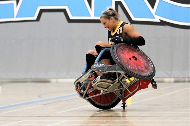 Thumb wheelchair rugby    ontario parasport games   feb 2019   pic  2